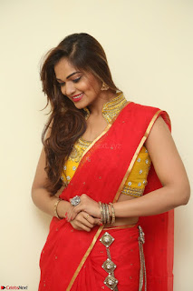 Actress Ashwini in Golden choli Red saree Spicy Pics ~  068.JPG