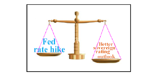 Fed's rate hike Vs Sovereign rating up gradation