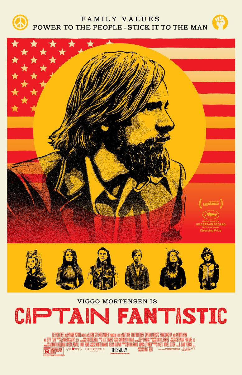 CAPTAIN FANTASTIC - poster - Mejor Director en la sección Un Certain Regard del Festival de Cannes 2016
