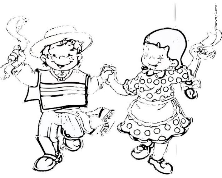 Dibujo De Chilena Para Colorear: Colorear Fiestas Patrias Chile, Panqueque, Fondas…