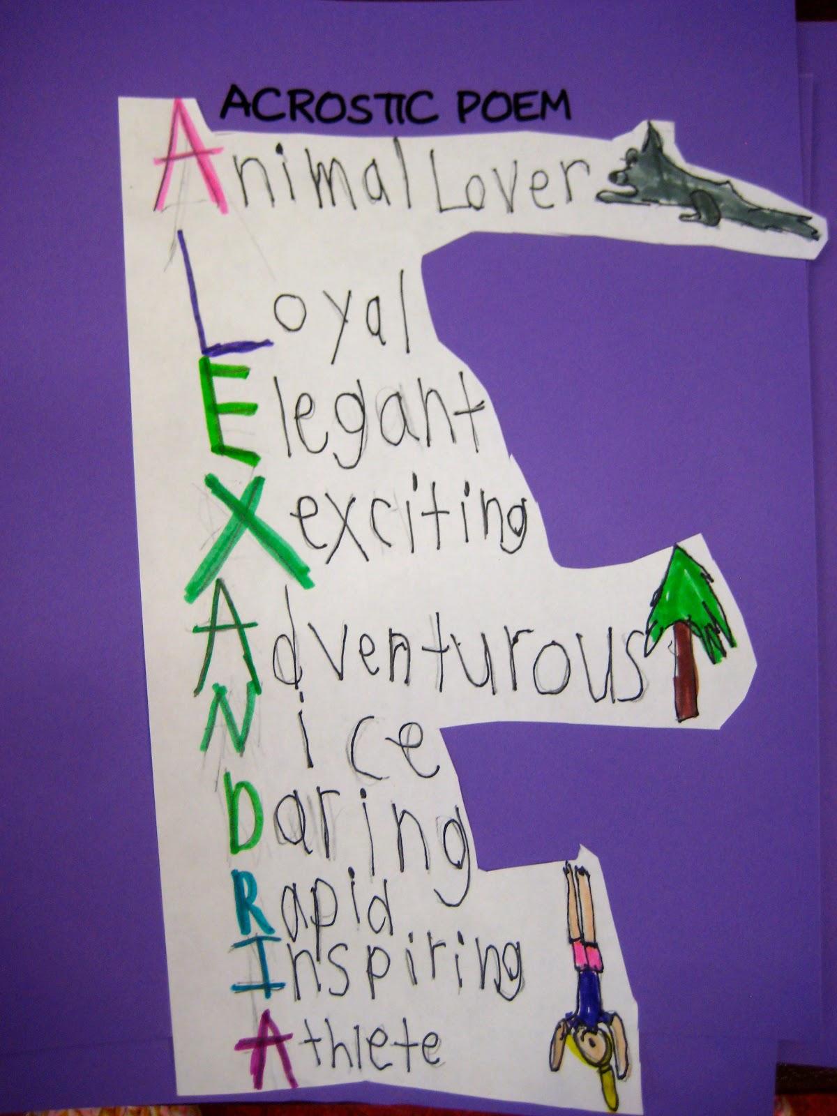 Ms Liebel S Classroom Poetry Unit Acrostic Poem