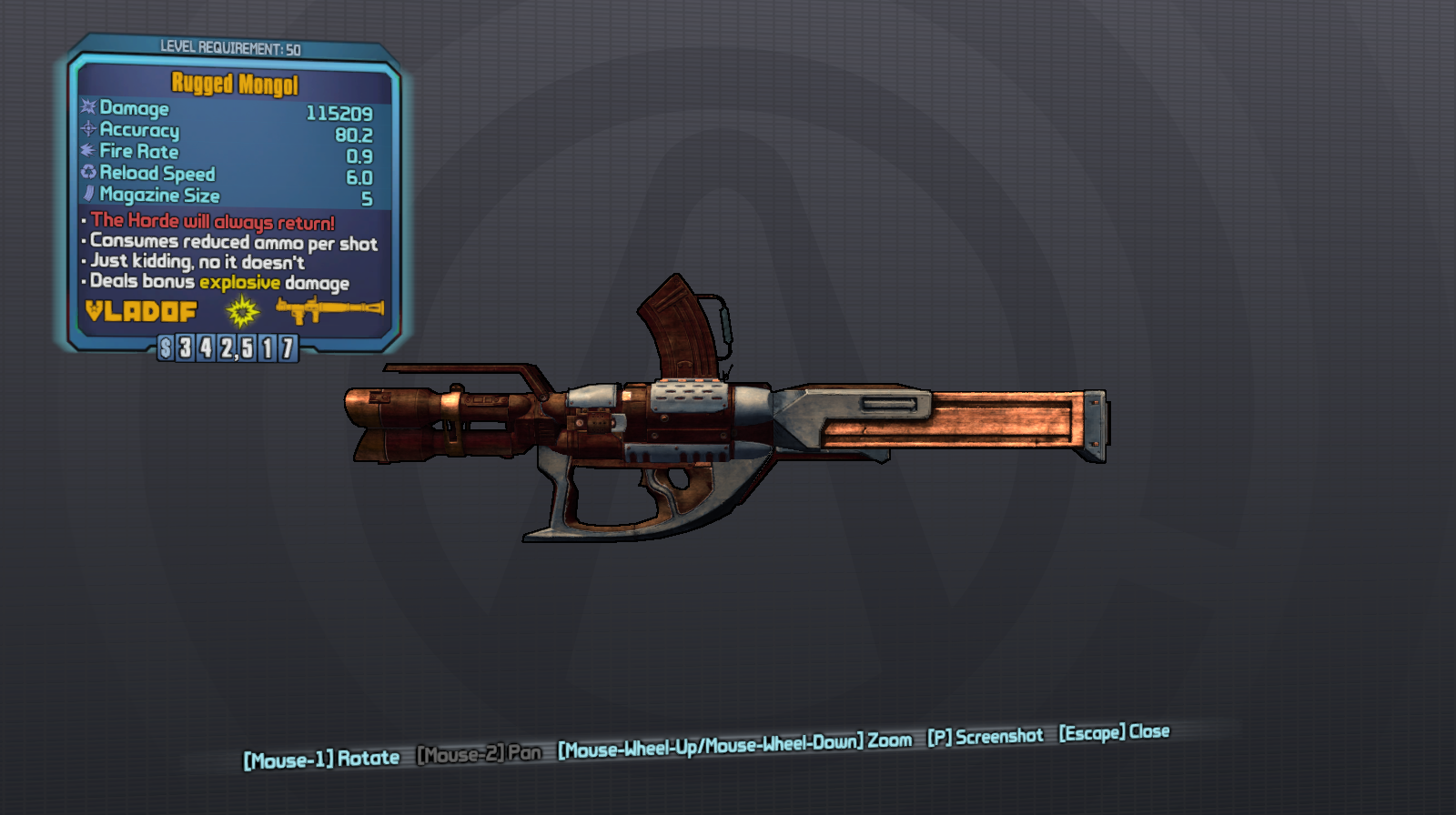 Mongol: Borderlands 2 Legendary Weapons | Borderlands 2