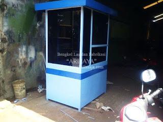 Jasa pembuatan pos parkir atau booth gate murah indonesia