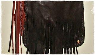 diy / fringe leather bag / torebeczka skórzana z frędzlami DIY