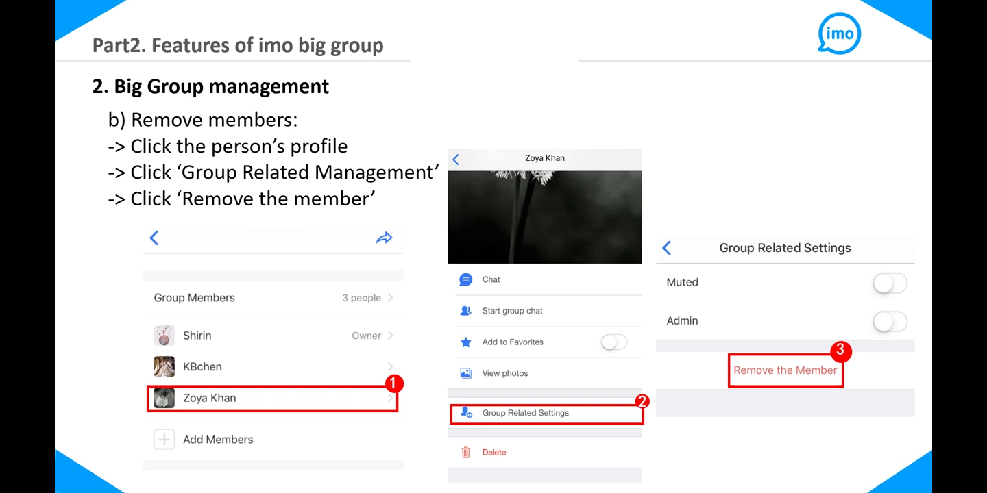 How to create imo big group - 4DTechpro