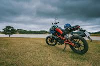 bike dark clouds daylight