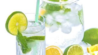 Mineral Water, Mint and Lime