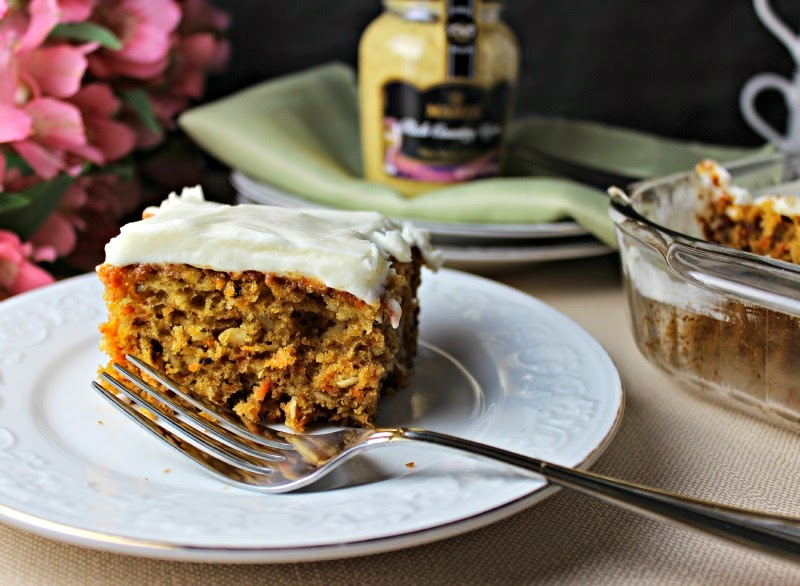 Renee's Kitchen Adventures: Dijon Carrot Cake with Cream Cheese Frosting  Dijon gives this moist carrot cake pizzazz! #cake #carrot