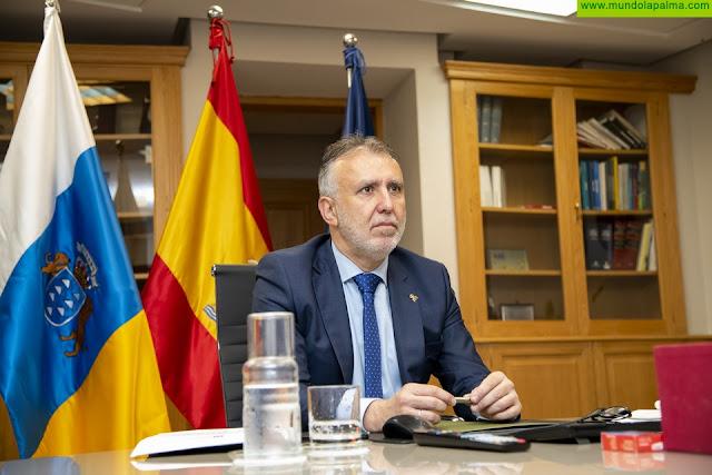 El presidente de Canarias reclama que el reparto de los 16.000 millones del Estado tenga en cuenta la mayor pérdida de ingresos fiscales en las Islas y los PCR totales que ha realizado cada comunidad autónoma