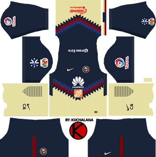 Club América Kits 2017/2018 - Dream League Soccer