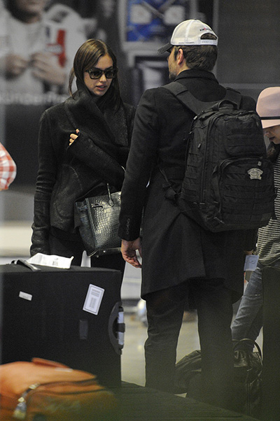 Irina Shayk and Bradley Cooper arrived in Paris