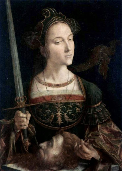 Jan Cornelisz Vermeyen, Judith with the Head of Holofernes, Macabre Art, Macabre Paintings, Horror Paintings, Freak Art, Freak Paintings, Horror Picture, Terror Pictures