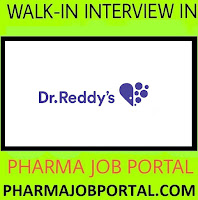 Dr.Reddy's - Walk-In Interviews for Freshers Quality Control, Quality Assurance at 2  September