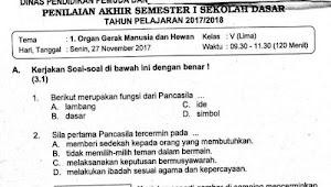 Soal Ulangan Tema 1 Kelas 5 SD Kurikulum 2013