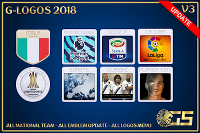 PES 2018 G-Logos Pack 2018 by G-Style