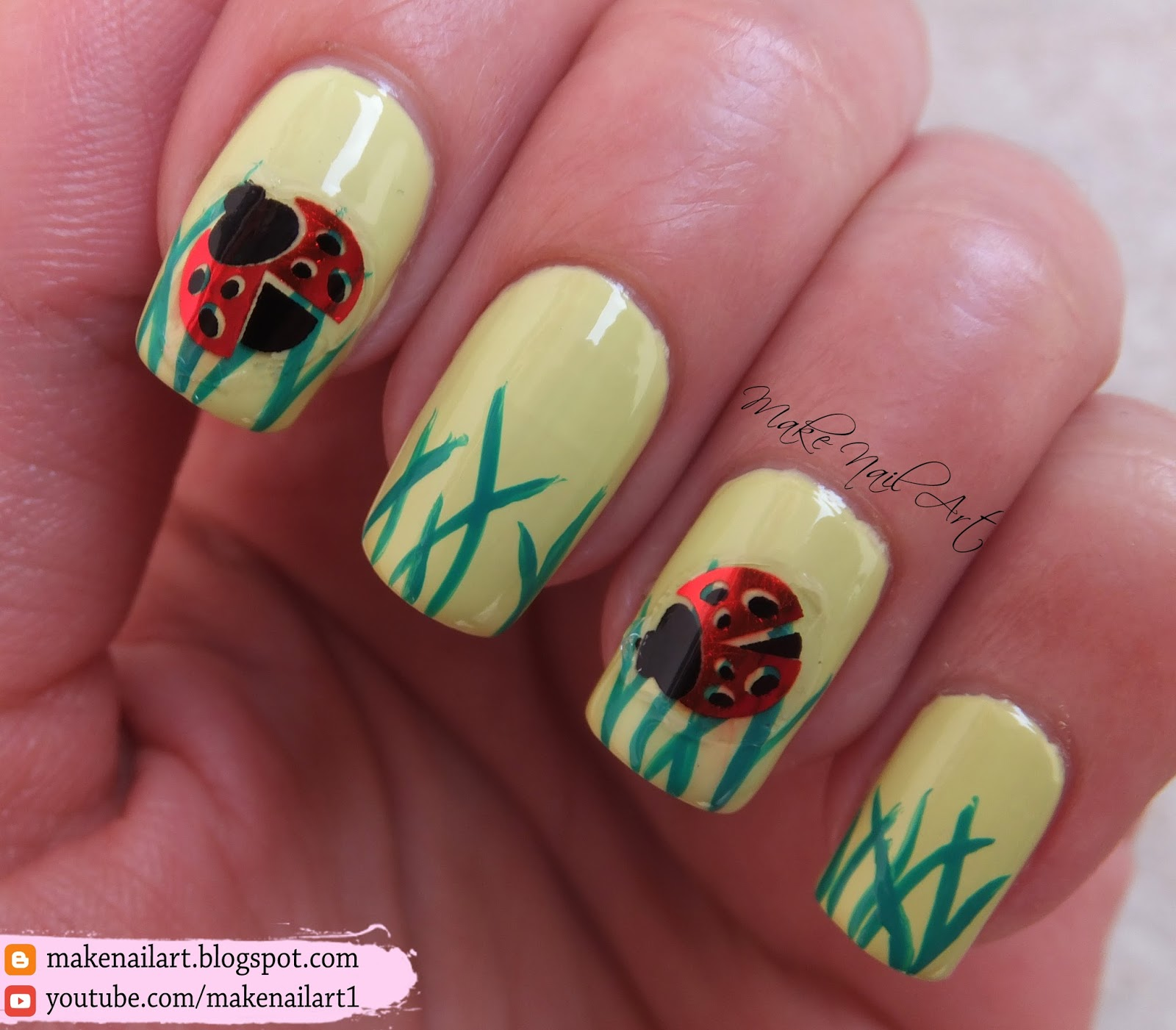 Make Nail Art Spring Ladybug Nail Art Design Tutorial Shemodern