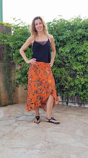 falda flores verano