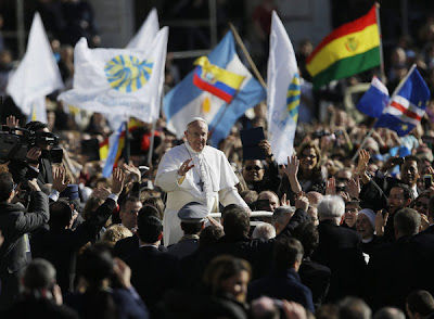 Pope Francis at installation Mass