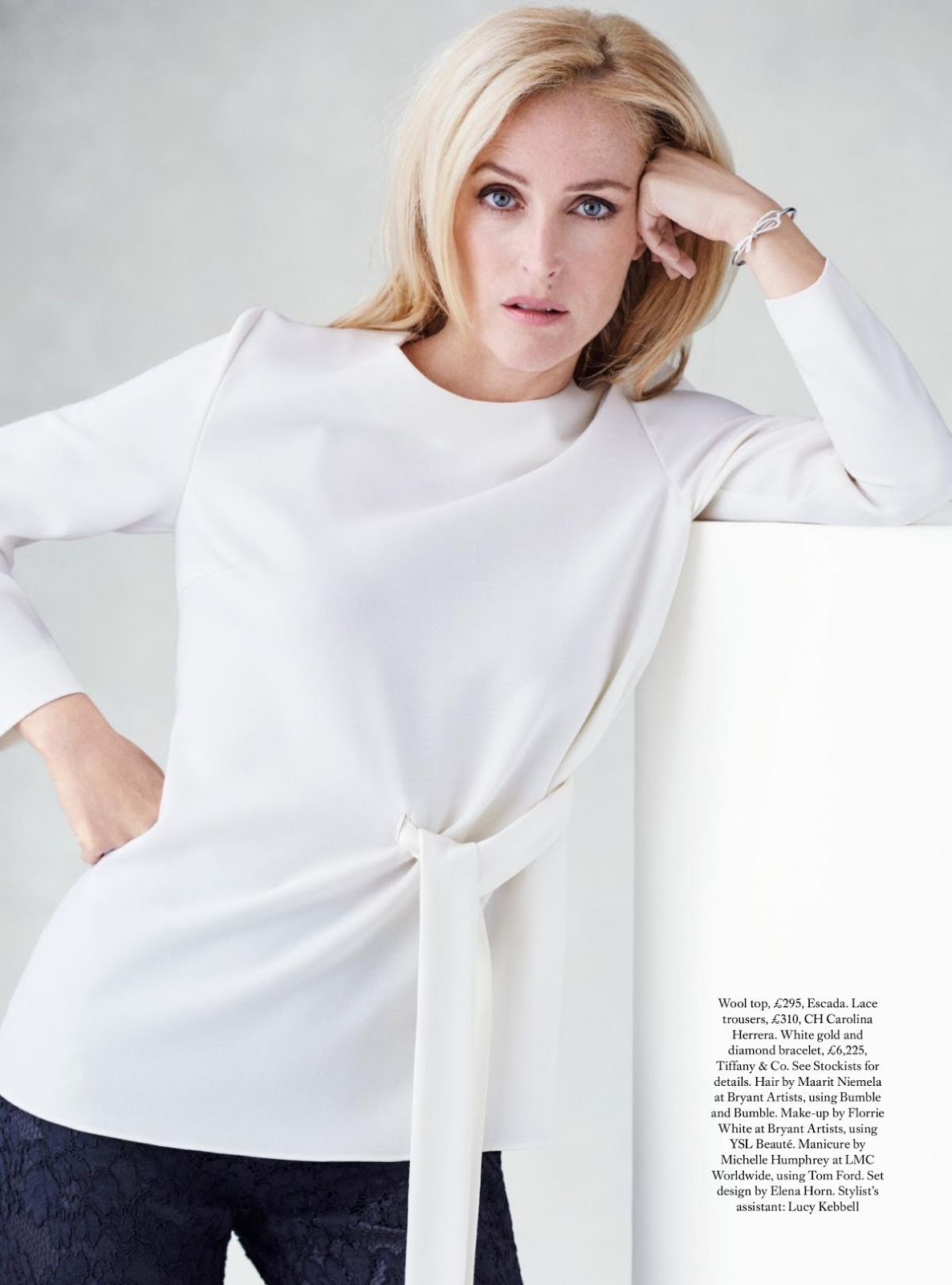 Gillian Anderson HQ Photoshoot for Harper's Bazaar Magazine UK October 2016 Issue