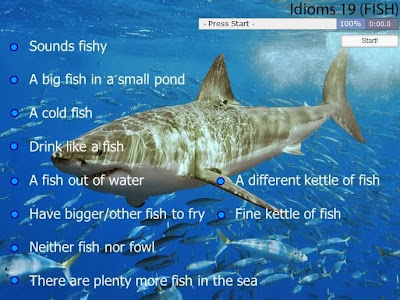 CLIL EFL ESL ELL TEFL Games, Resources, Activities: Fish Idioms Interactive Game
