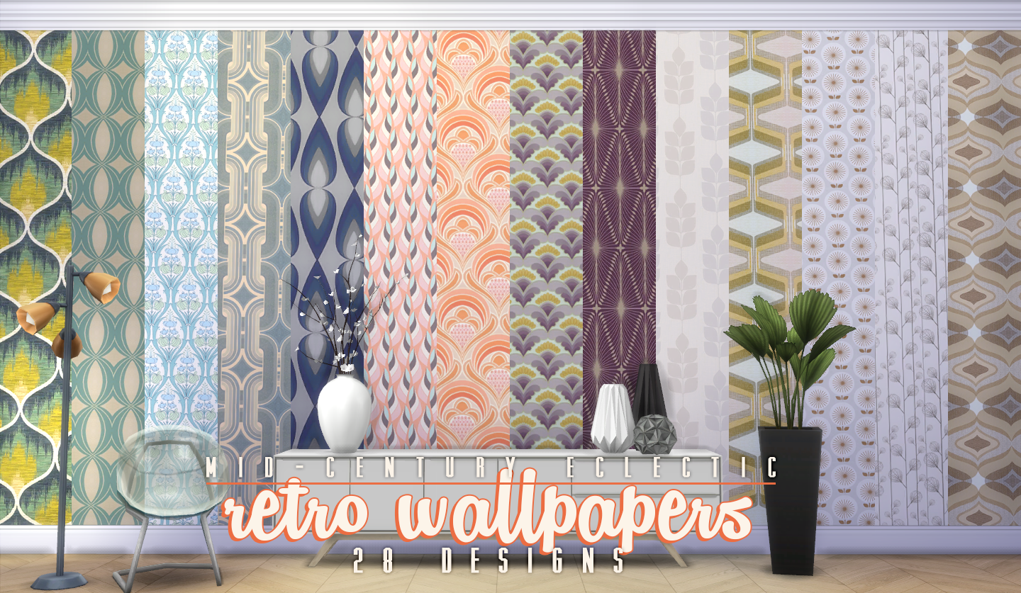 My Sims 4 Blog Updated Mid Century Eclectic Object Set By