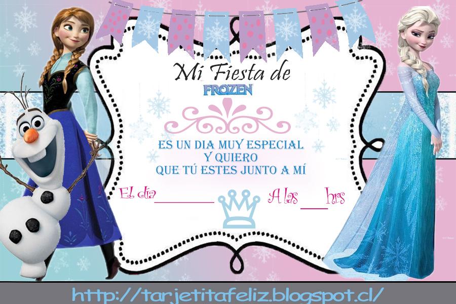 Tarjetas De Cumpleaños Para Imprimir Invitacion Frozen Gratis