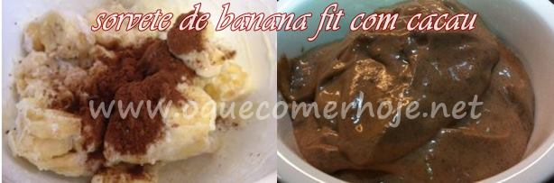 Sorvete de Banana Fit com Cacau