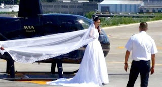 Bride is killed in tragic helicopter crash