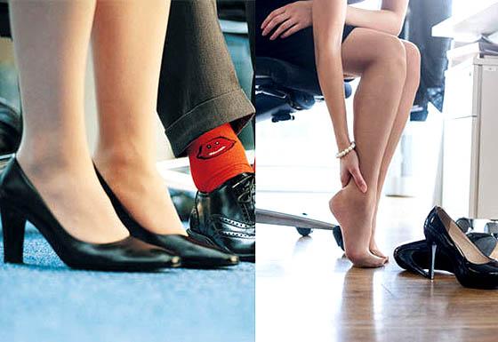 High heels beresiko terhadap kesehatan dan keselamatan karyawati