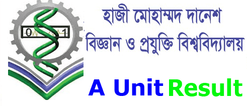 HSTU A Unit Admission Result 2019