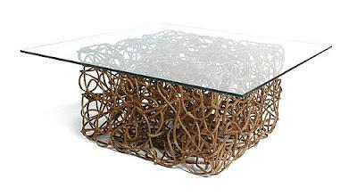 Genial mesa con nudos
