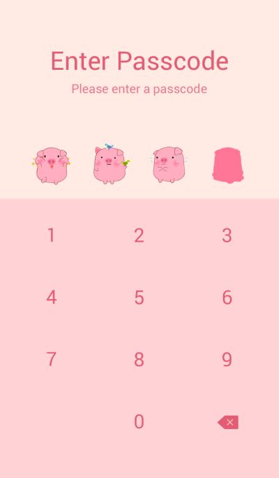 Cute Fat Pink Pig Theme