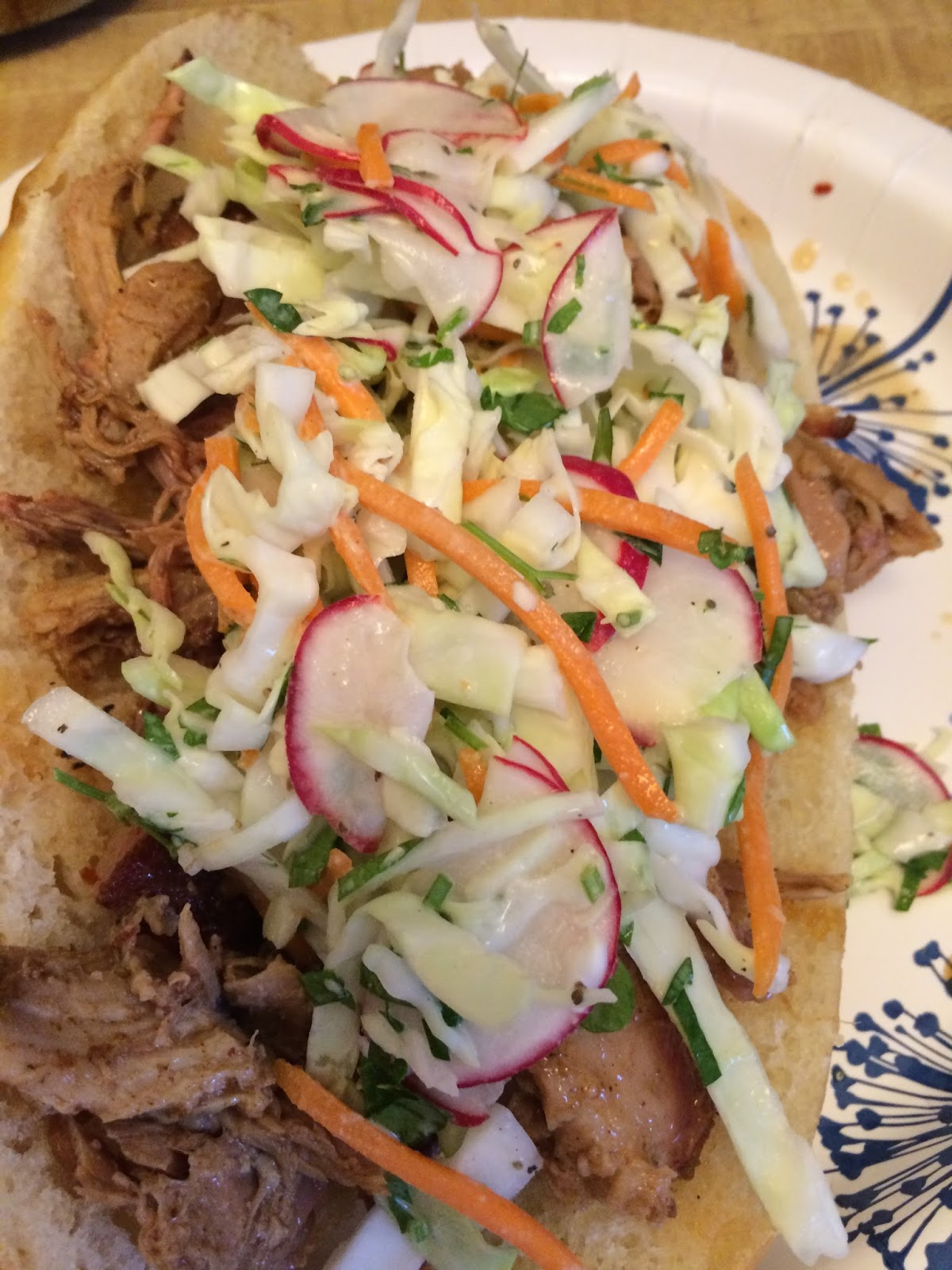 Nana's Blue and White Dishes: Pulled Pork Shoulder