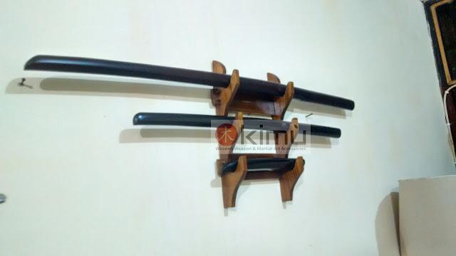 KIMU Dragon Claw Wall Katanakake (rak / tatakan pedang atau katana) - 3 tingkat