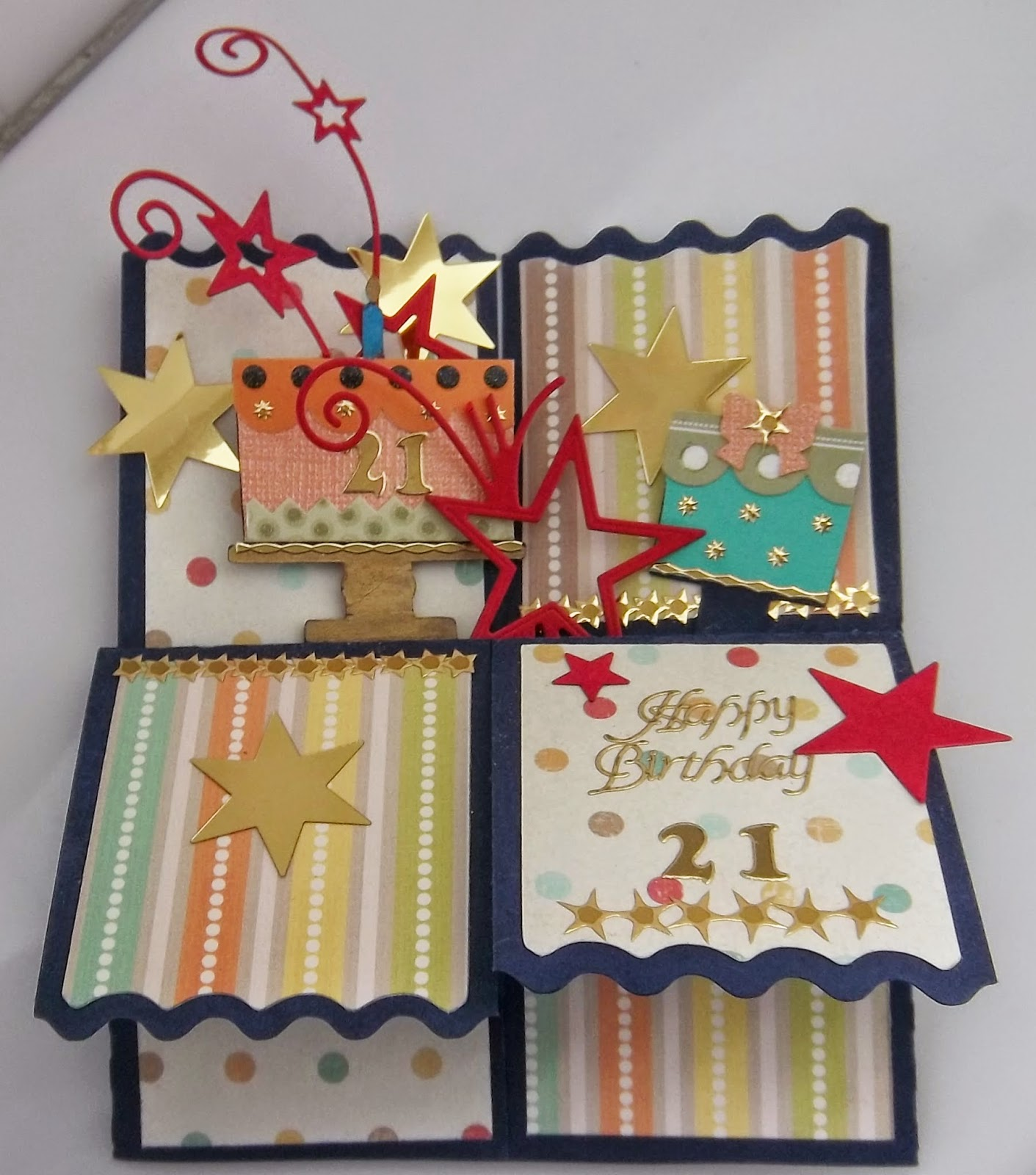 Cute Critter Cards Pop Up Box Card 21st Birthday
