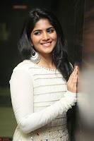 Megha Akash in beautiful White Anarkali Dress at Pre release function of Movie LIE ~ Celebrities Galleries 063.JPG