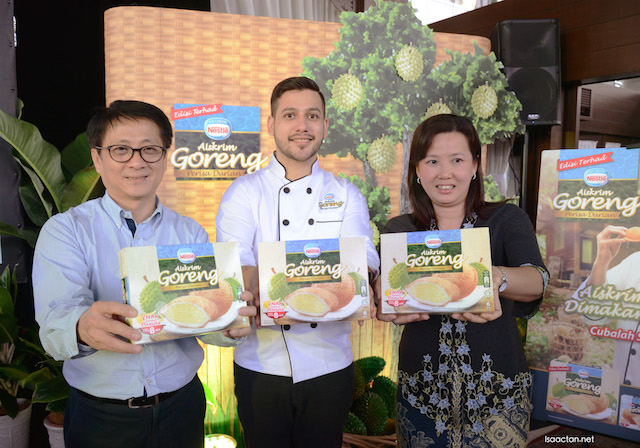 And it's launched, the all-new limited edition Nestle Aiskrim Goreng Durian flavour