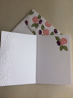 Inside the card and coordinating envelope