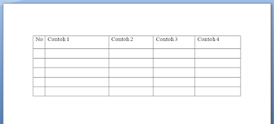 Cara Membuat Tulisan Tepat di Tengah Tabel MS Word 3