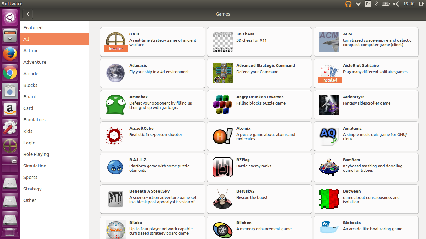 new ubuntu software center 16.04 LTS