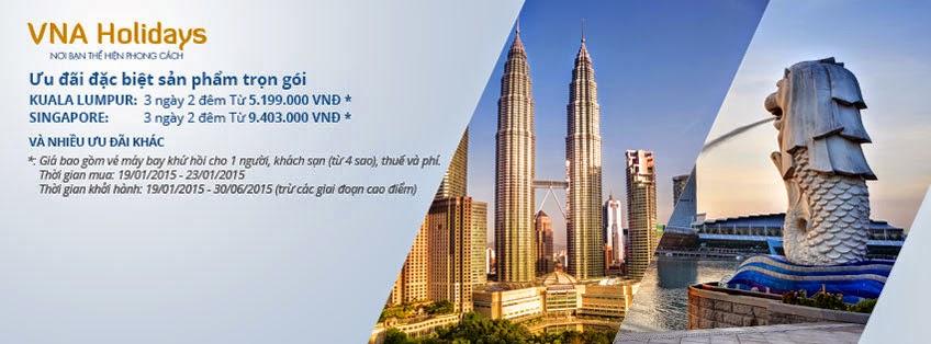 Vietnam Airlines - Tận hưởng kỳ nghỉ của bạn tại Kuala Lumpur, Singapore