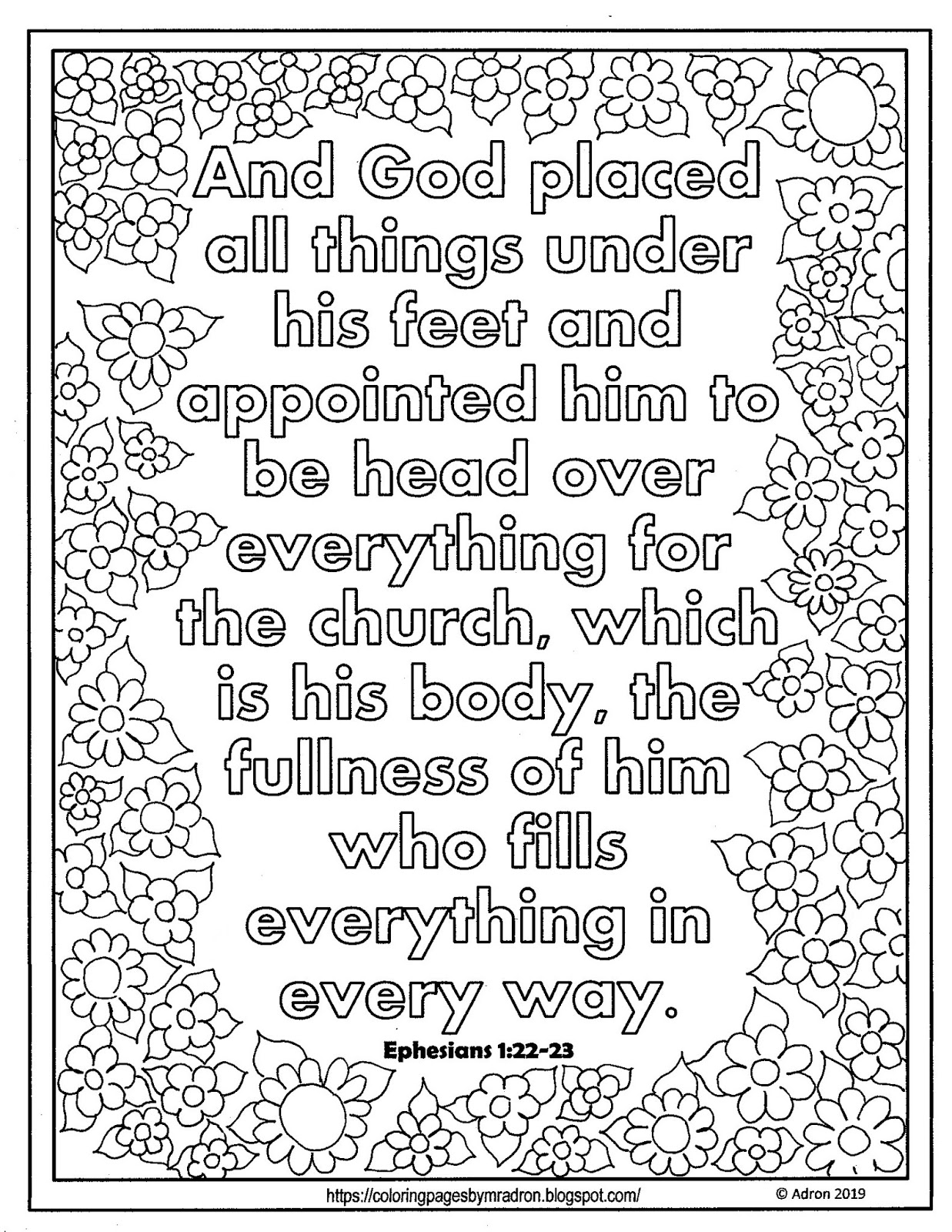 Coloring Pages For Kids By Mr Adron Free Print And Color