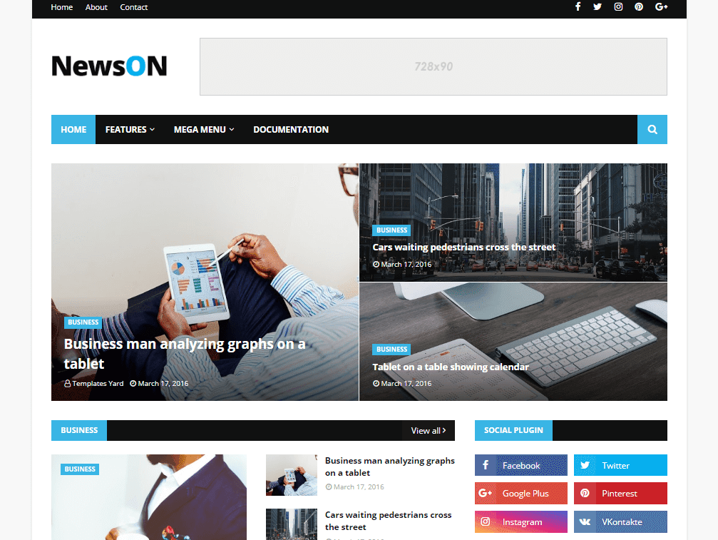 How to setup newson blogger template templatesyard sora blogging newson blogger template is a premium looking blog magazine blogger theme loaded with various features it gives your blog a professional appearance with wajeb Choice Image