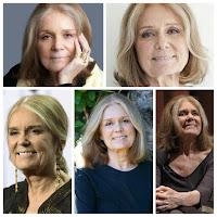 Gloria Steinem - Cabelo Grisalho Feminino Longo