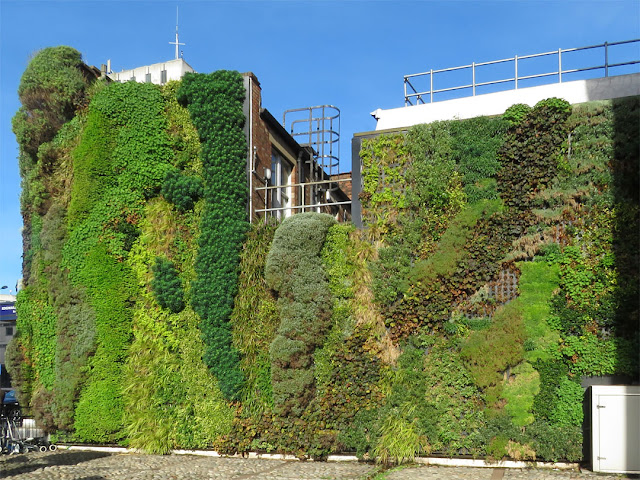 Green wall, Edgware Road tube station, Marylebone Road, London