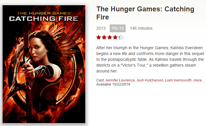 news the hunger games catching fire released on netflix