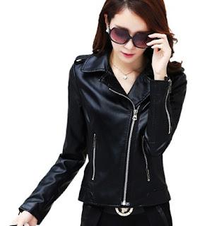 Gambar Model Jaket Semi Kulit Wanita Modern Terbaru