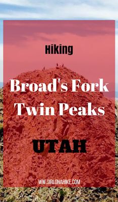 Hiking Twin Peaks via Robinson's Variation, Big Cottonwood Canyon, Utah