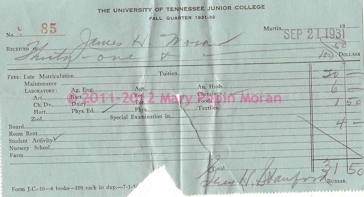Moran Place University Of Tennessee Junior College 32