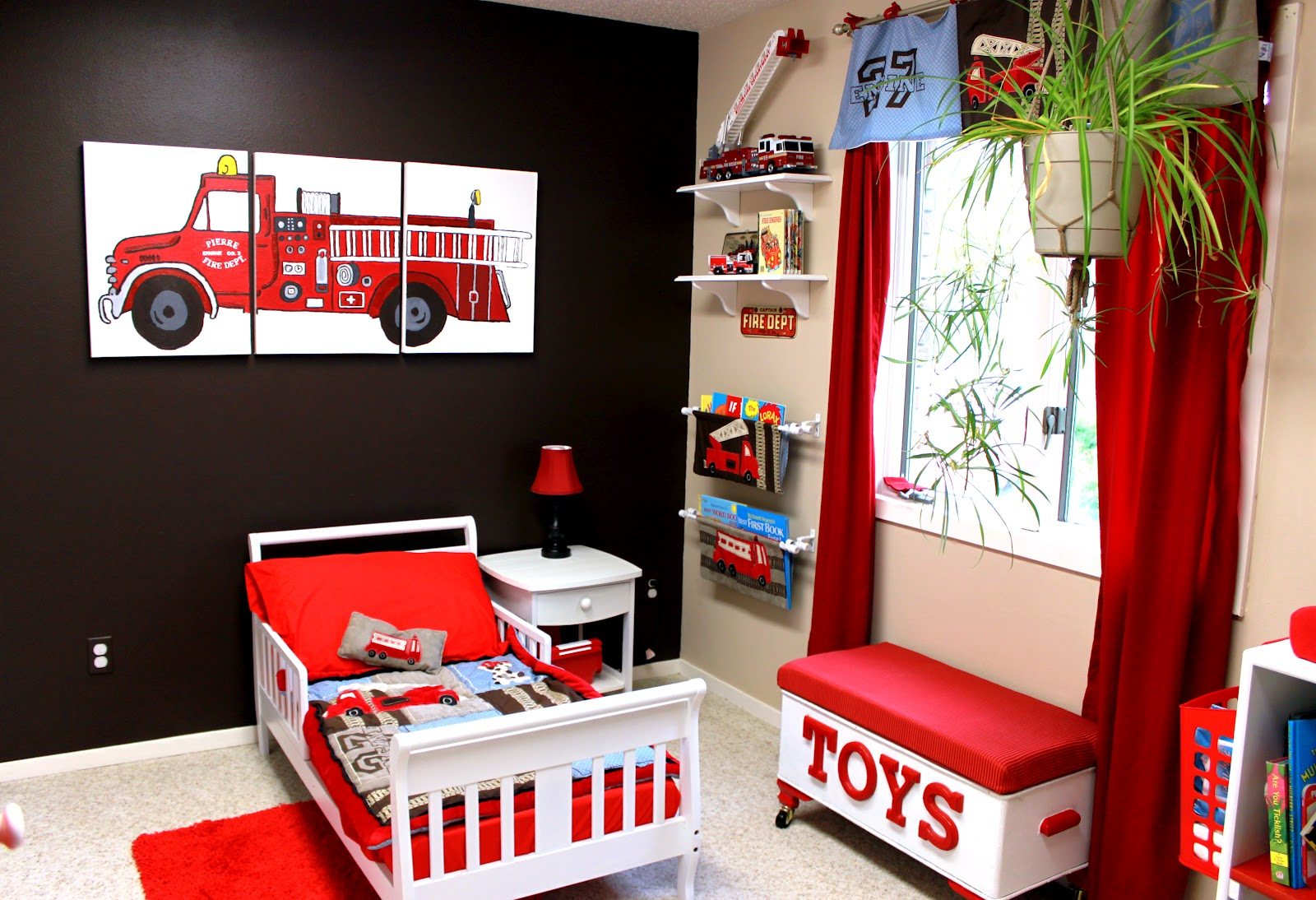 fire truck room.............I know a little boy who needs